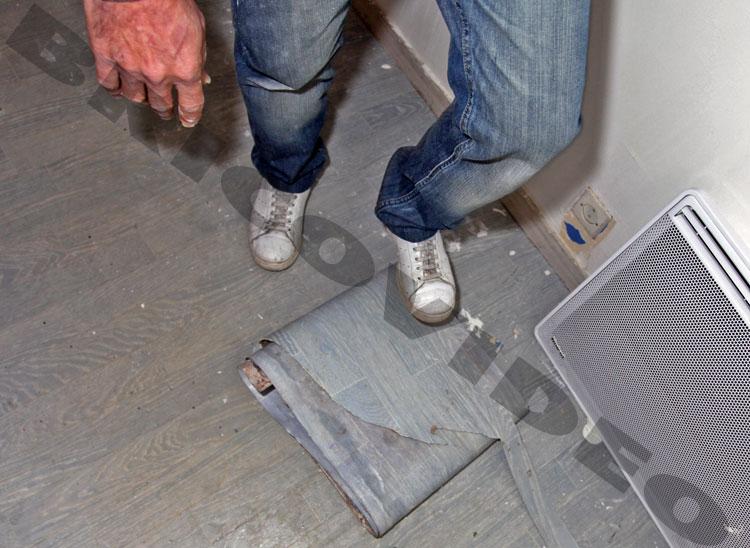 Poser du rev tements de sol d coller du lino facilement for Poser du lino en rouleau