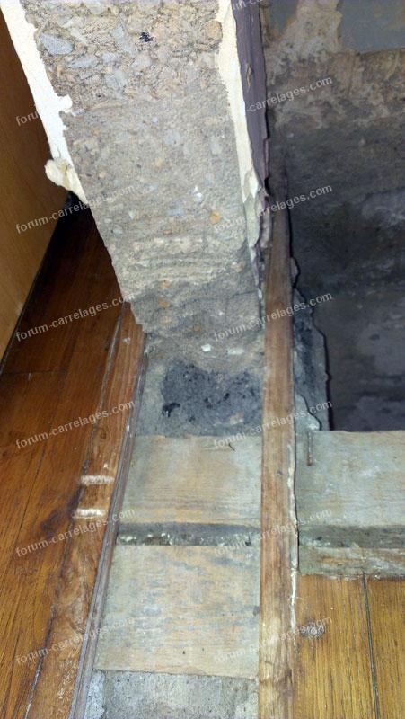 raccord plancher suite à destruction mur porteur