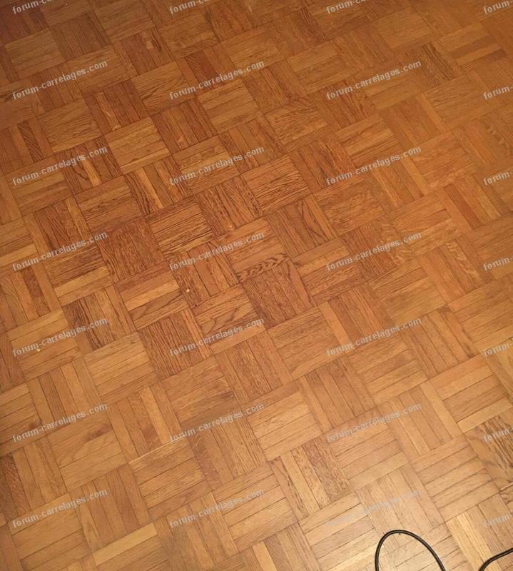 traces sur le sol parquet