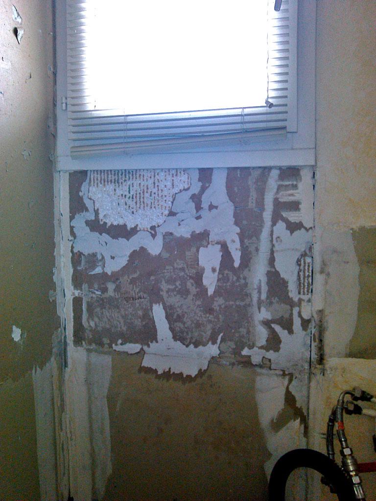 conseils pour r parer mur plaque de pl tre polystyr ne arrach suite au retrait de la fa ence. Black Bedroom Furniture Sets. Home Design Ideas